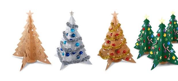 árbol navideño de cartón